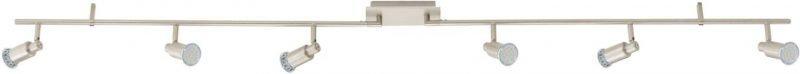 LED-kattospotti Eridan 1700x70mm 6-osainen harjattu teräs