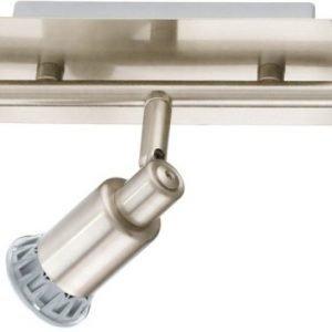 LED-kattospotti Eridan 580x70 mm 3-osainen harjattu teräs