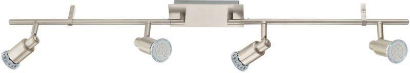 LED-kattospotti Eridan 885x70 mm 4-osainen harjattu teräs