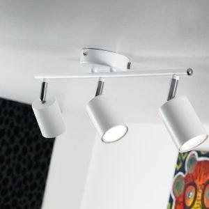 LED-kattospotti Explore 480x55x165 mm 3-osainen valkoinen