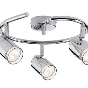 LED-kattospotti Futura Ø 280x150 mm 3-osainen kromi