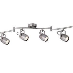 LED-kattospotti Gamma 1200x90x225 mm 6-osainen harjattu teräs