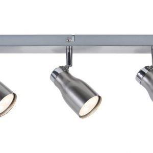 LED-kattospotti Meli 400x160x55 mm 3-osainen harjattu teräs