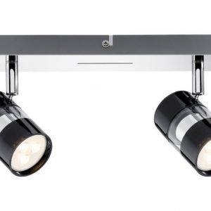 LED-kattospotti Nevo 260x120x125 mm 2-osainen musta/kromi