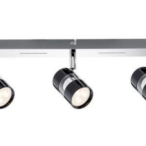 LED-kattospotti Nevo 420x120x125 mm 3-osainen musta/kromi