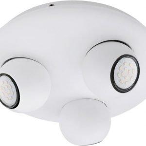LED-kattospotti Norbello 3 Ø 270x100 mm 3-osainen valkoinen