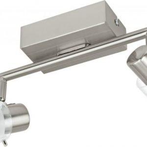 LED-kattospotti Orvieto 1 2-osainen harjattu teräs kirkas/valkoinen