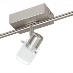 LED-kattospotti Orvieto 1 3-osainen harjattu teräs kirkas/valkoinen
