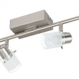 LED-kattospotti Orvieto 1 4-osainen harjattu teräs kirkas/valkoinen