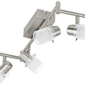 LED-kattospotti Orvieto 1 6-osainen harjattu teräs kirkas/valkoinen
