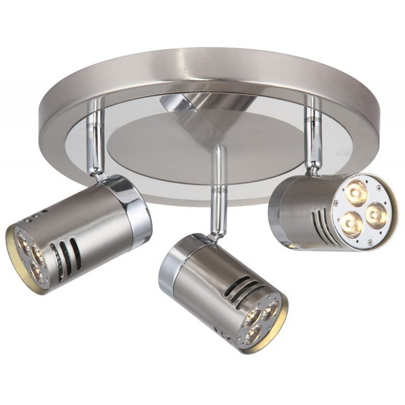 LED-kattospotti Pipe Ø 250x160 mm 3-osainen teräs/kromi