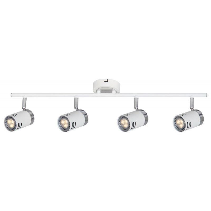 LED-kattospotti Pipe 650x180x170 mm 4-osainen valkoinen/kromi