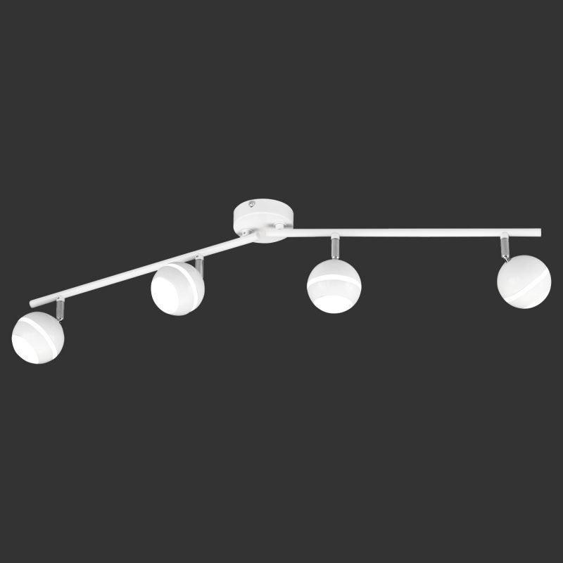 LED-kattospotti Plump 830x90x165 mm 4-osainen valkoinen