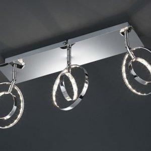 LED-kattospotti Prater 450x90x190 mm 3-osainen kromi