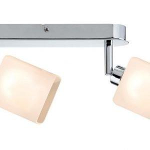 LED-kattospotti Quad 265x105x65 mm 2-osainen kromi/valkoinen