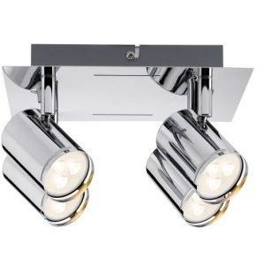 LED-kattospotti Rondo Ø 220x120 mm 4-osainen kromi