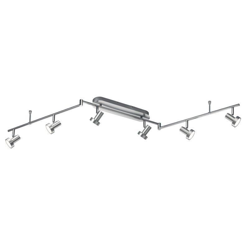LED-kattospotti Spigot 1500x85x190 mm 6-osainen harjattu alumiini