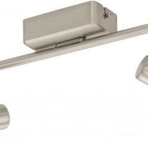 LED-kattospotti Taberno 2-osainen harjattu teräs valkoinen