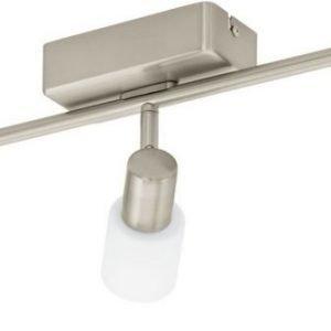 LED-kattospotti Taberno 3-osainen harjattu teräs valkoinen