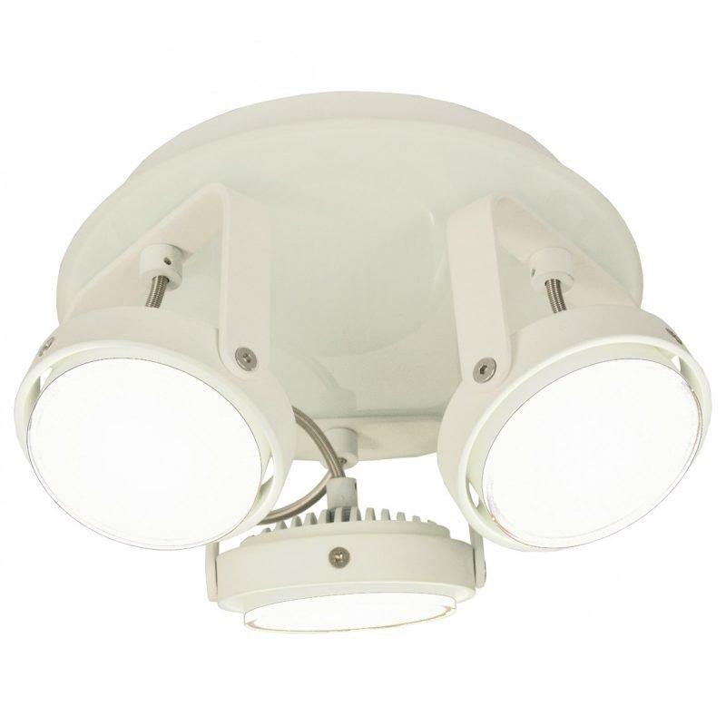 LED-kattospotti Tauro IP44 Ø 224x117 mm 3-osainen suunnattava valkoinen