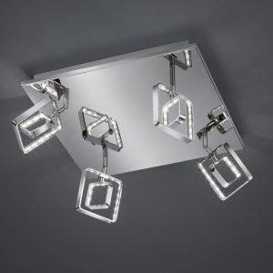 LED-kattospotti Tivoli 380x380x180 mm 4-osainen kromi