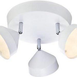 LED-kattospotti Tratt Ø 320x180 mm 3-osainen valkoinen