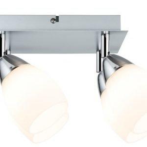 LED-kattospotti Wolba 210x105x210 mm 4-osainen mattakromi