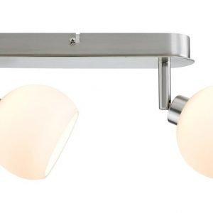 LED-kattospotti Wolbi 265x105x65 mm 2-osainen harjattu teräs/valkoinen