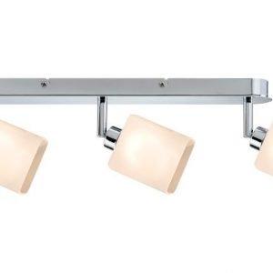 LED-kattospottivalaisin Quad 465x105x65 mm 3-osainen kromi/valkoinen