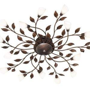 LED-kattovalaisin Botanice Ø 800x105 mm 15-osainen antiikkiruskea