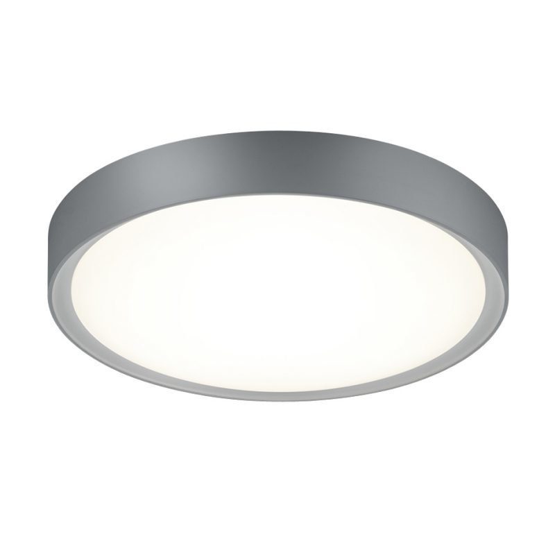 LED-kattovalaisin Clarimo Ø 330x90 mm IP44 harmaa