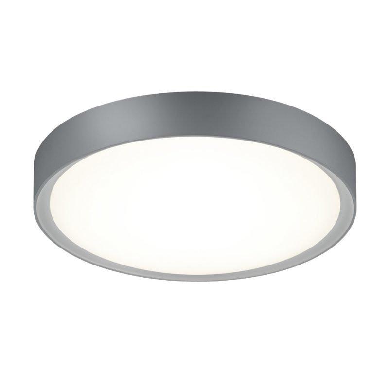 LED-kattovalaisin Clarimo Ø 330x90 mm IP44 harmaa