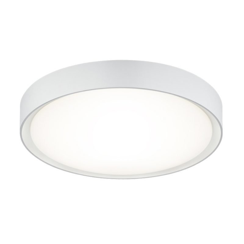 LED-kattovalaisin Clarimo Ø 330x90 mm IP44 valkoinen
