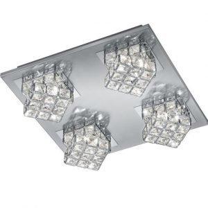 LED-kattovalaisin Grandeur 350x350x100 mm harjattu teräs