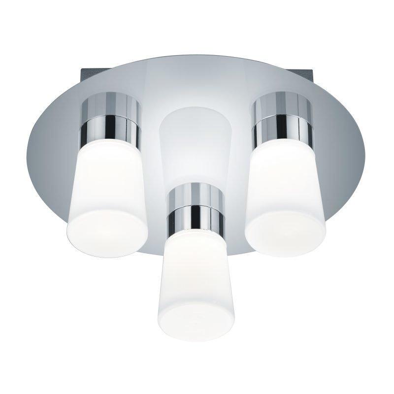 LED-kattovalaisin H2O Ø 300x145 mm 3-osainen IP44 kromi