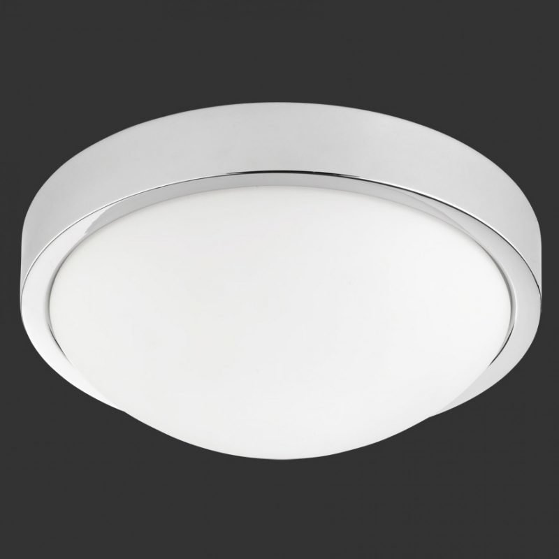 LED-kattovalaisin H2O 6805 Ø 310x120 mm IP44 kromi/opaalilasi