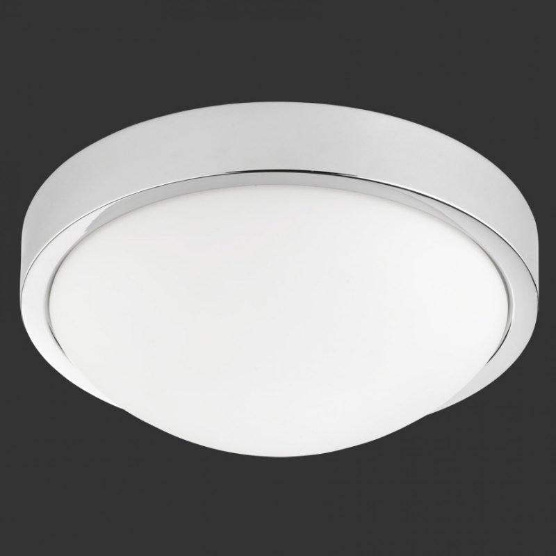 LED-kattovalaisin H2O 6805 Ø 310x120 mm IP44 kromi/opaalilasi
