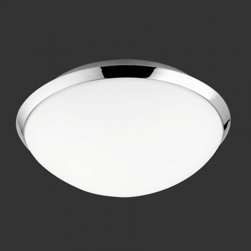 LED-kattovalaisin H2O 6807 Ø 250x110 mm IP44 kromi/opaalilasi