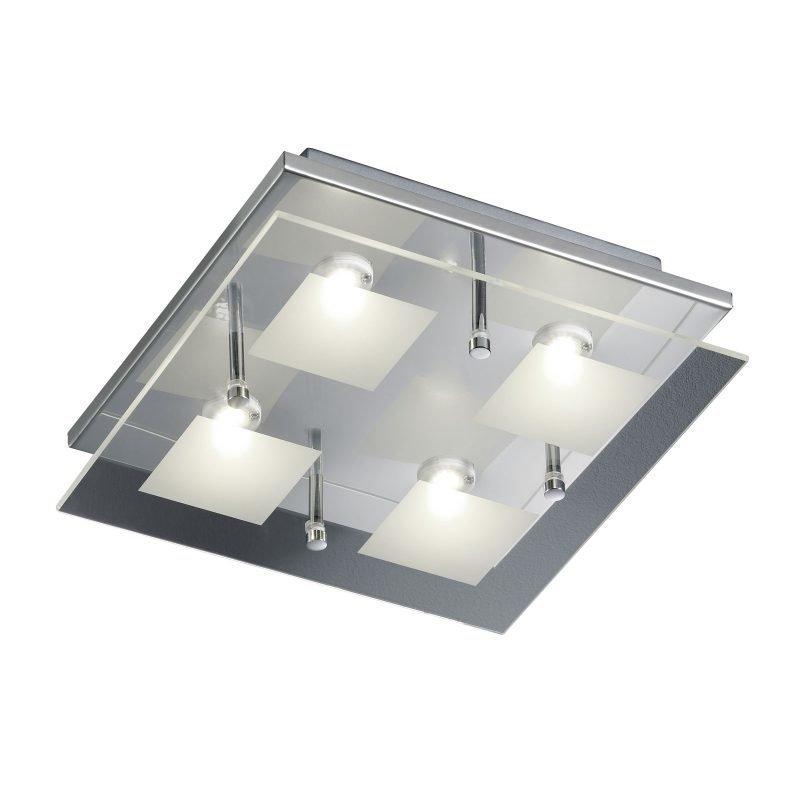 LED-kattovalaisin Piazza 260x260x80 mm kromi
