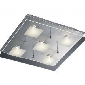 LED-kattovalaisin Piazza 380x380x80 mm kromi