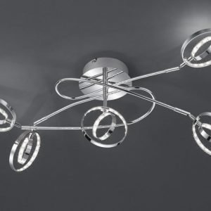 LED-kattovalaisin Prater 620x420x280 mm 5-osainen kromi
