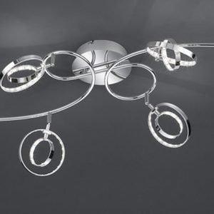LED-kattovalaisin Prater 950x550x230 mm 6-osainen kromi