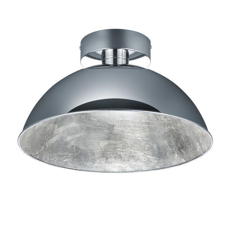 LED-kattovalaisin Romino Ø 400x220 mm kromi/hopea