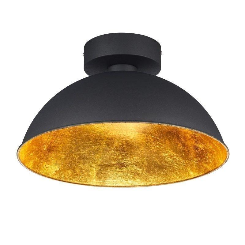 LED-kattovalaisin Romino Ø 400x220 mm musta/kulta