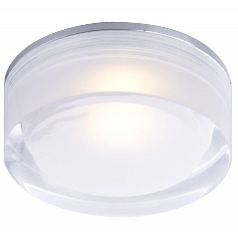 LED-kattovalaisin Vetro IP44 Ø 90x32 mm upotettava alumiini/akryyli