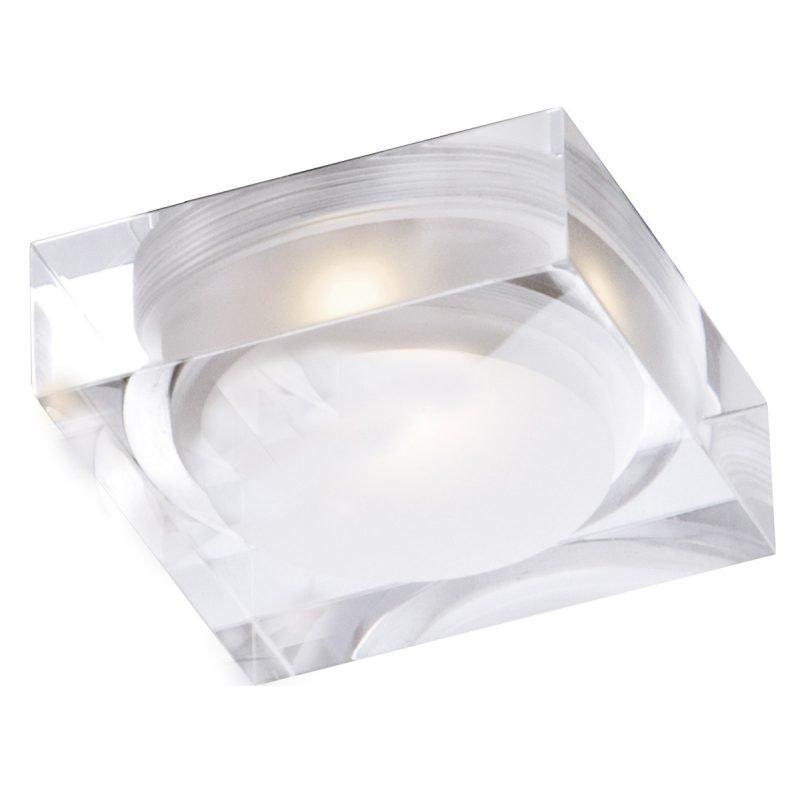 LED-kattovalaisin Vetro IP44 70x70x32 mm upotettava alumiini/akryyli