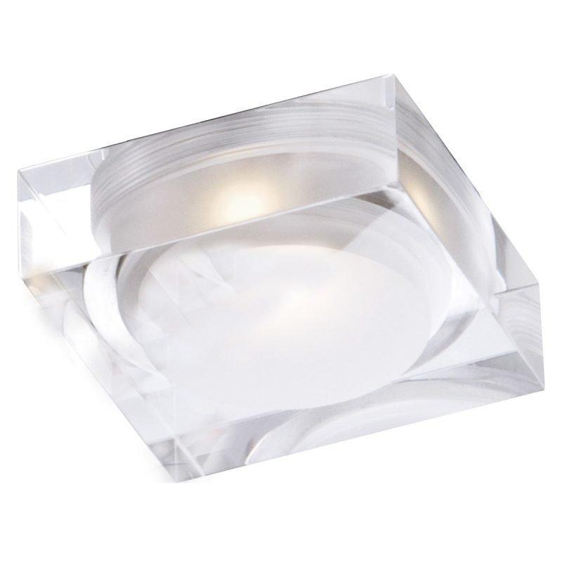 LED-kattovalaisin Vetro IP44 90x90x32 mm upotettava alumiini/akryyli