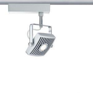 LED-kiskovalaisin URail Loupe spotti 180x119x198 mm mattakromi/kromi suunnattava
