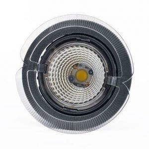 LED-kohdevalaisin Universal Design Spot S102 9W 40° 4000K tummanharmaa/oranssi ulko