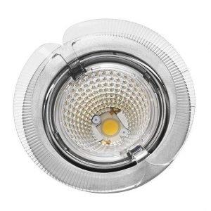 LED-kohdevalaisin Universal Design Spot S102 9W 40° 4000K vaaleanharmaa/oranssi ulko